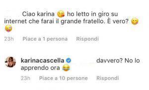 Grande Fratello Vip Karina Cascella concorrente