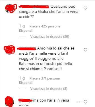 Giulia De Lellis critiche Instagram