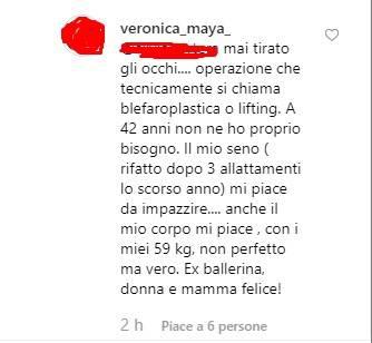 Veronica Maya risposta critiche