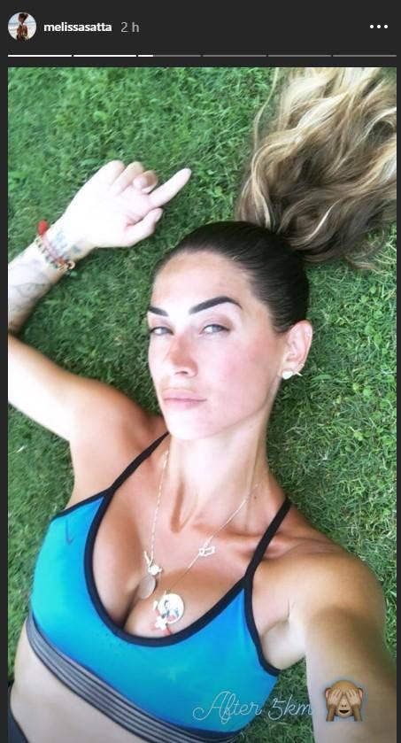 Melissa Satta allenamento