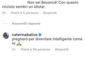 Caterina Balivo critiche 'particolare'