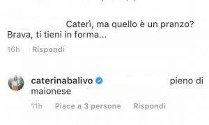 Caterina Balivo accavalla