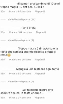 Chiara Nasti magra sfogo