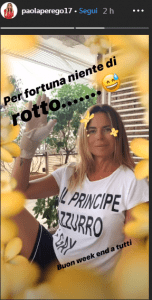 Paola Perego in ospedale