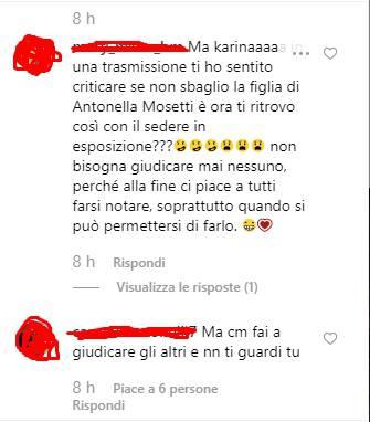 Karina Cascella critiche