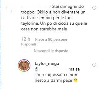 Taylor Mega critiche replica