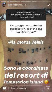Massimo Temptation Island tatuaggio
