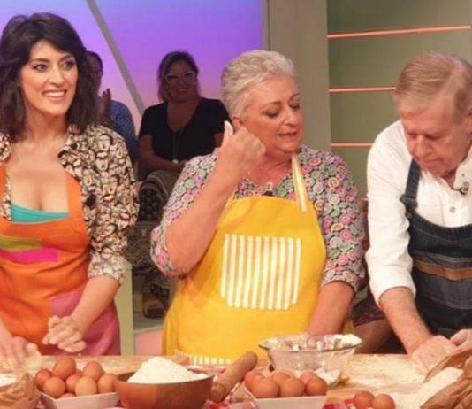 Claudio Lippi Elisa Isoardi La Prova del Cuoco minaccia