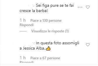 Federica Nargi commenti look