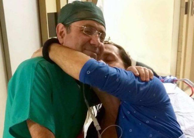 Povia operato all'ospedale Rummo di Benevento: