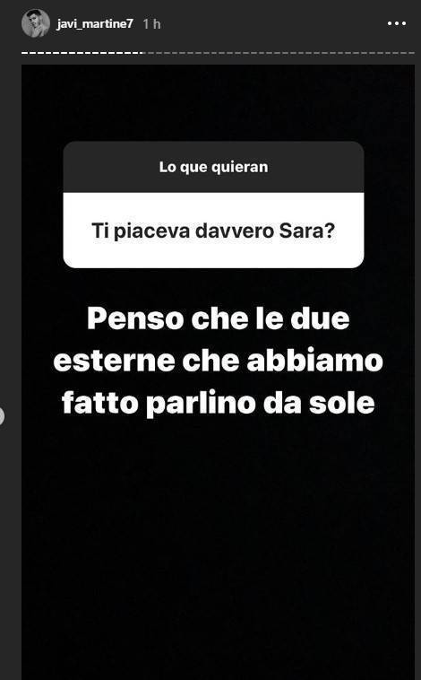 Javier Martinez risposta Sara