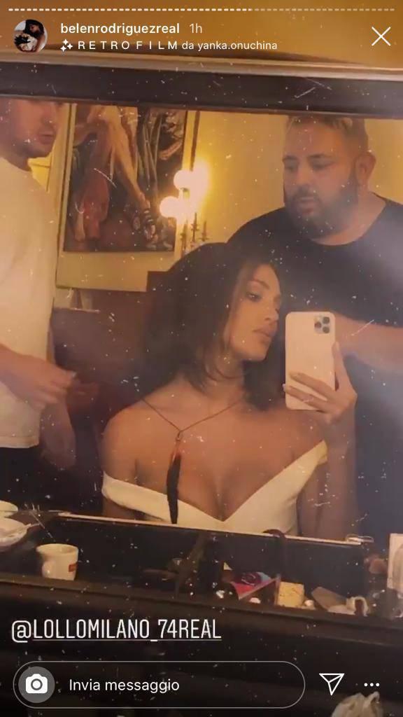 Belen Rodriguez bretella vestito