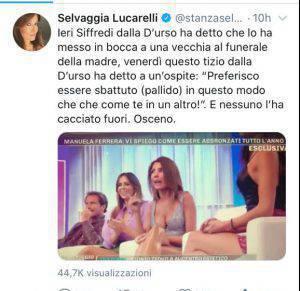 Selvaggia Lucarelli contro D'Urso