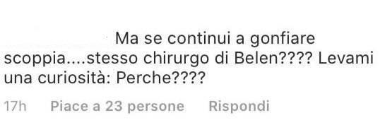 Alessia Marcuzzi colpo basso