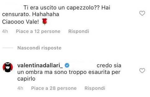 Valentina Dallari scollatura