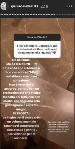 Giulia De Lellis consiglio