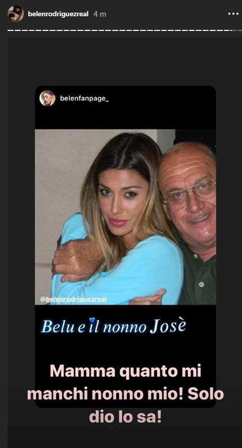 Belen Rodriguez ricordo nonno