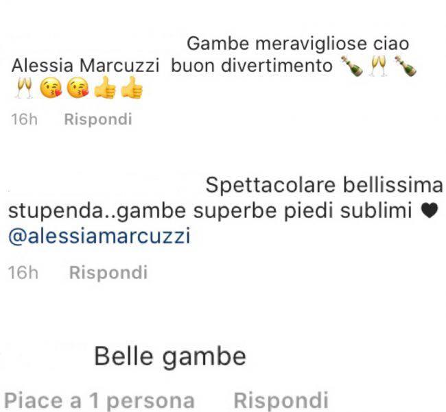 Alessia Marcuzzi gonna corta