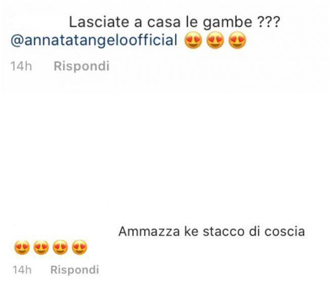 Anna Tatangelo spacco