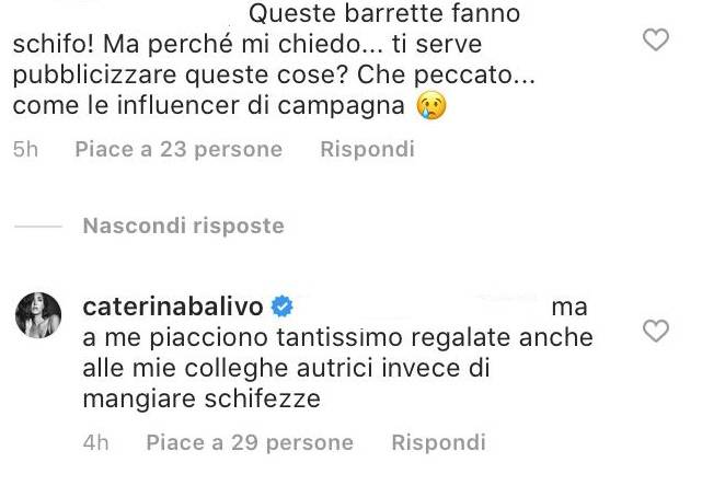 Caterina Balivo gesto