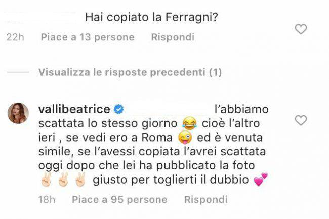 Beatrice Valli attacco