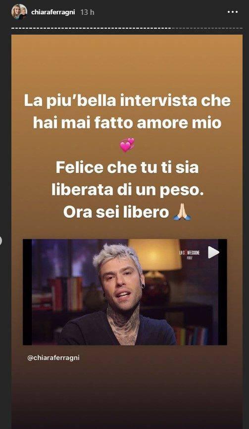 Chiara Ferragni commento Fedez