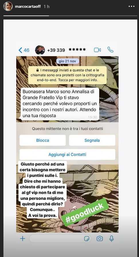 Marco Carta GF Vip