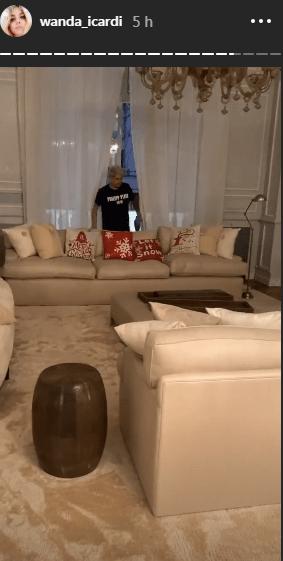Wanda Nara casa soggiorno