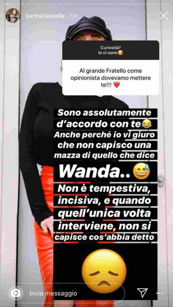 GF Vip Wanda Nara attacco