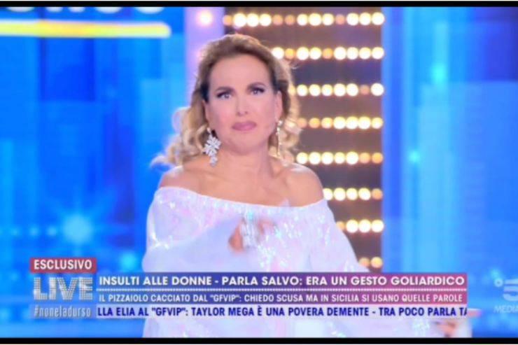 """Barbara D'Urso, dure parole contro Taylor Mega: """"Non ti vorrei più nelle mie trasmissioni"""""""