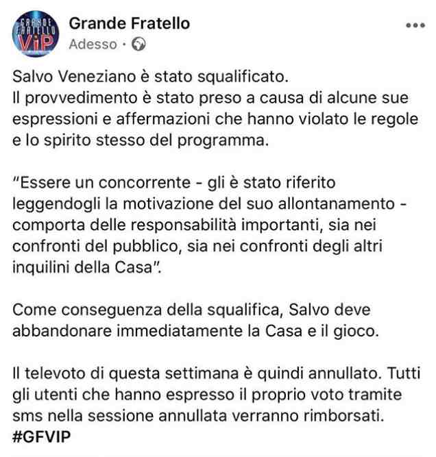 Salvo Veneziano Gf Vip