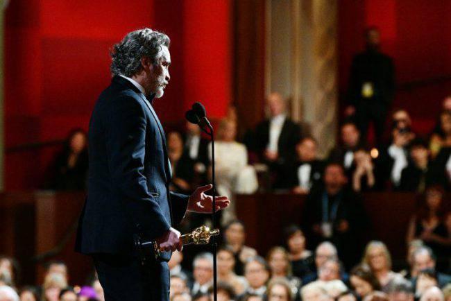 Joaquin Phoenix discorso
