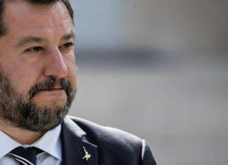 Matteo Salvini in strada