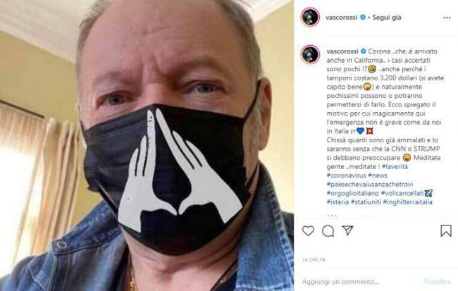 VAsco Rossi post Instagram