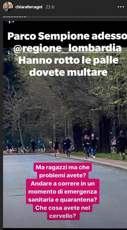 Chiara Ferragni sfogo