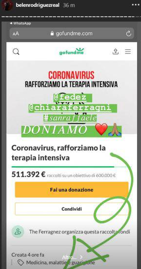 Fedez Chiara Ferragni Belen donazioni