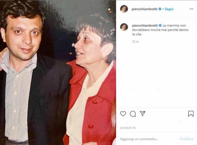 Piero Chiambretti post mamma