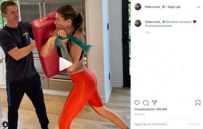 Elisabetta Canalis video Insytagram