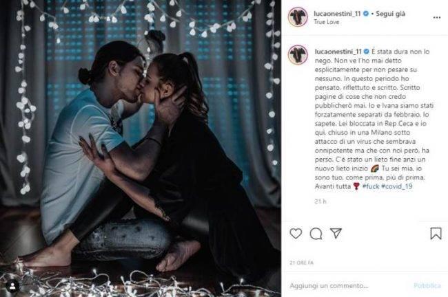 Luca Onestini post Instagram