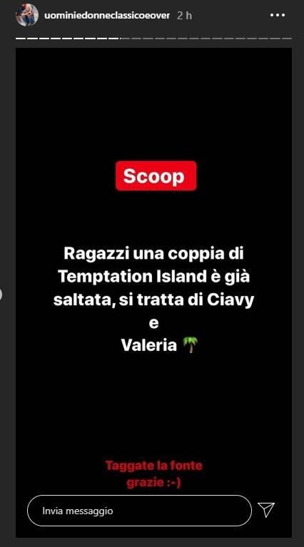 Temptation Island indiscrezione