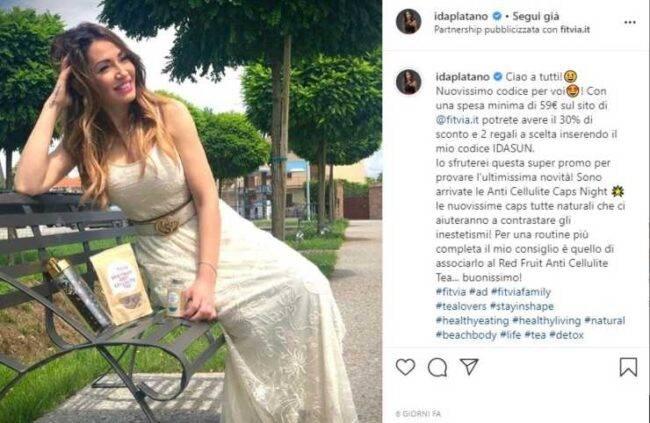 Ida Platano post Instagram