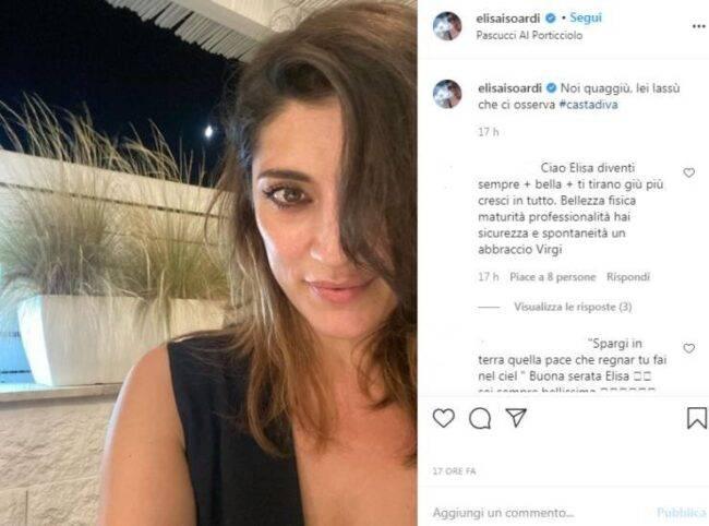 Elisa Isoardi sguardo malinconinco