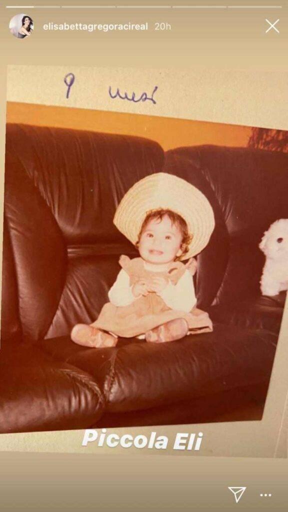 Elisabetta Gregoraci bambina