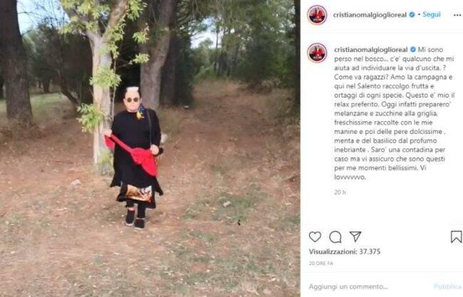 Cristiano Malgioglio imprevisto bosco