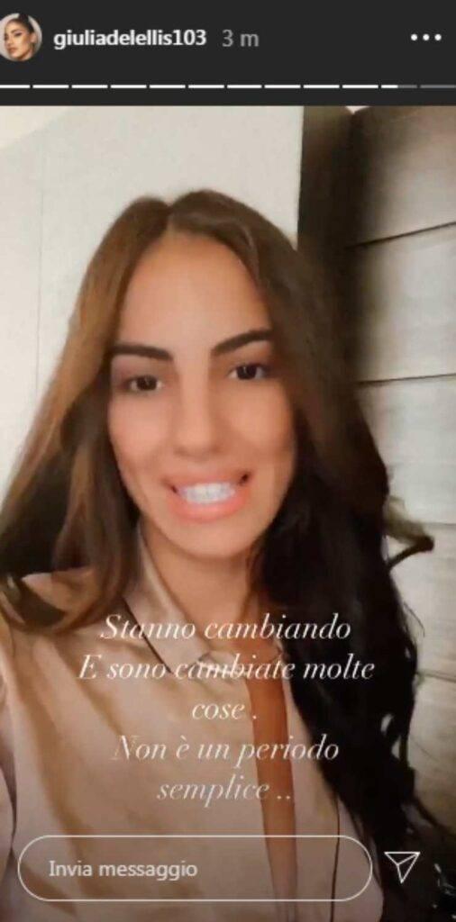 Giulia De Lellis crisi Damante
