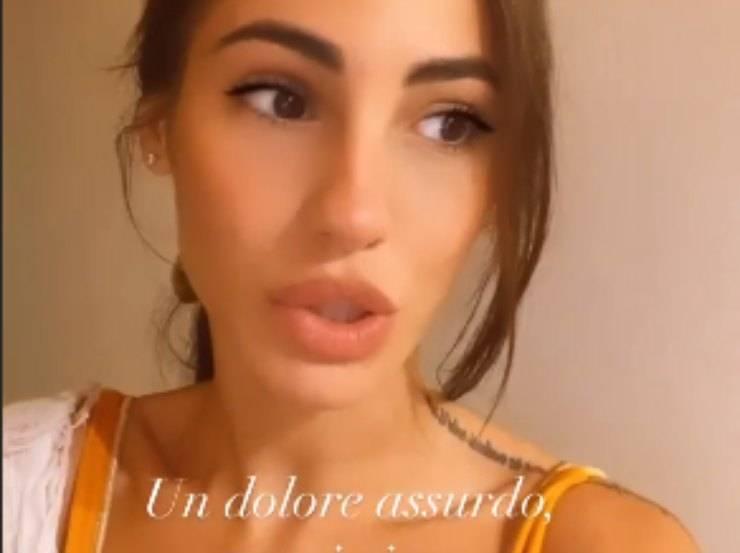 Giulia De Lellis, piccolo incidente