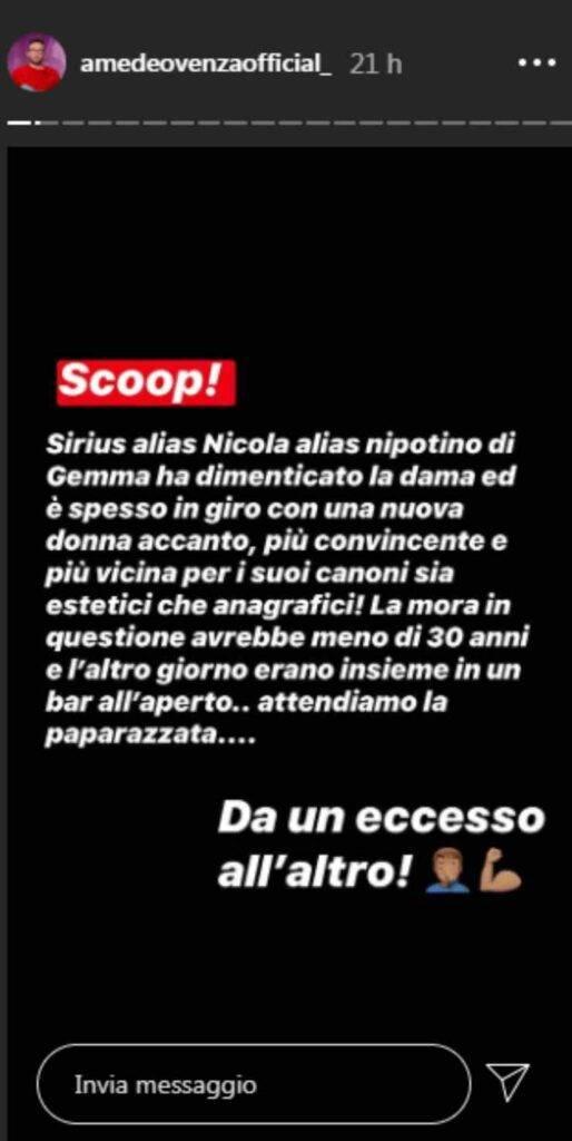 Nicola Vivarelli dimentica Gemma