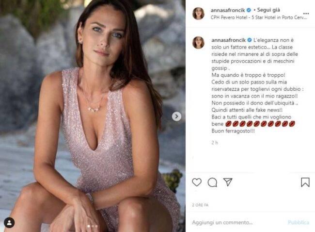 Anna Safroncik post INstagram