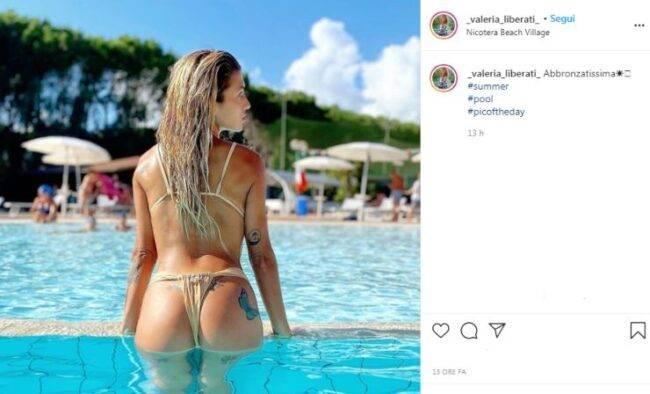 Valeria Liberati in piscina