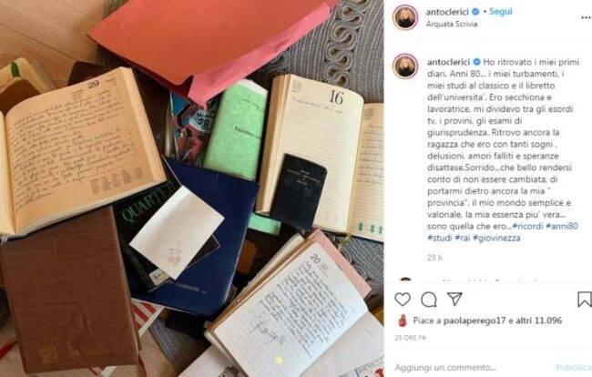 Antonella Clerici confessione dolorosa